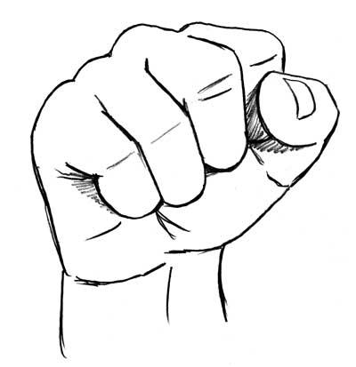 Drawing a fist